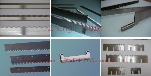 3302. CUTTING TABLETS, THREE STRAIGHT TOOTH BLADE, STAGGERED TOOTH BLADE ON THREE SIDES,PAPER MACHINE BLADE Specifications