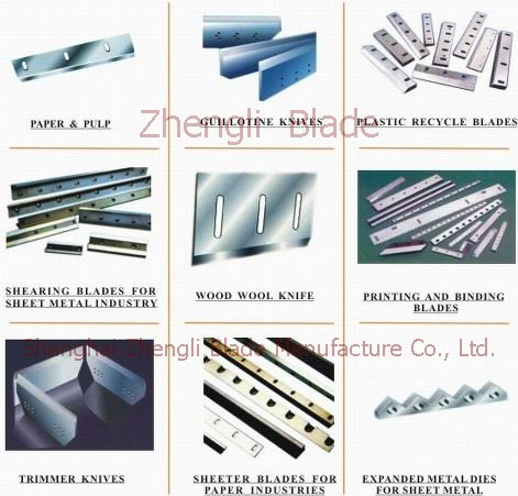 5054. DRAWING MACHINE PARTS, BENDING MACHINE FITTINGS,ROLLED PLATE TRANSVERSE EDGE SHEAR BLADES Wholesale